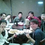練習後の中華